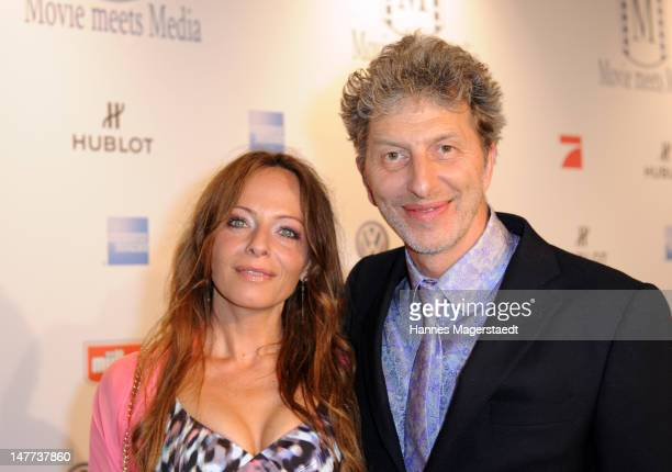 Actor Rufus Beck and his girlfriend Jo Kern attend the Movie Meets Media Party during the Munich Film Festival at the P1 on July 2 2012 in Munich...