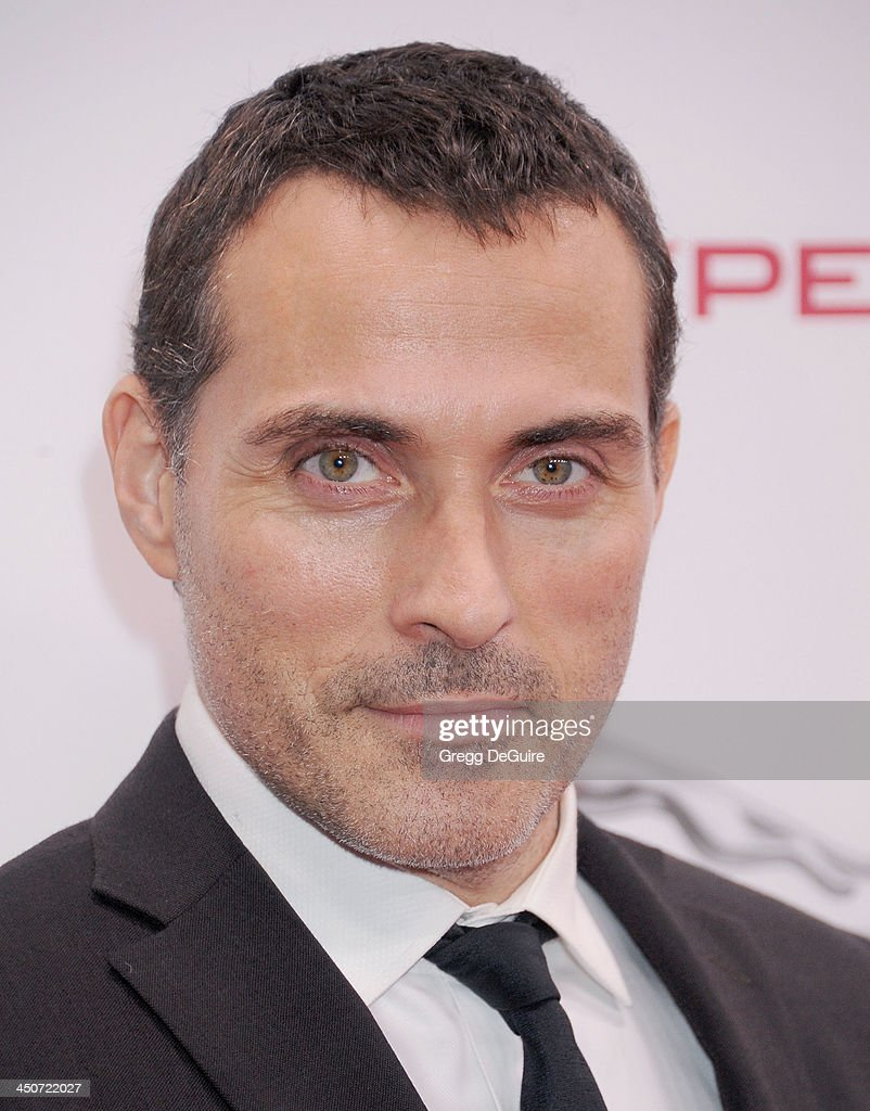 Actor Rufus Sewell arrives at the Jaguar F-TYPE Coupe launch party at Raleigh Studios on November 19, 2013 in Playa Vista, California.