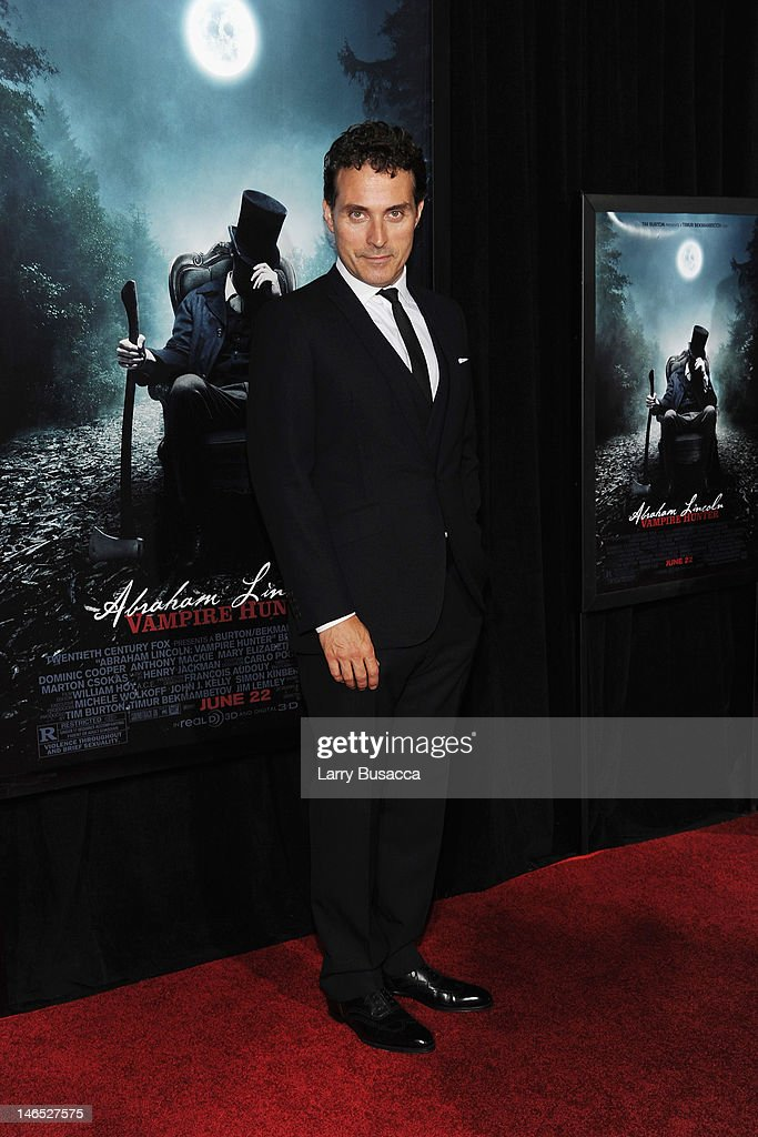 Actor <a gi-track='captionPersonalityLinkClicked' href=/galleries/search?phrase=Rufus+Sewell&family=editorial&specificpeople=558279 ng-click='$event.stopPropagation()'>Rufus Sewell</a> attends the 'Abraham Lincoln: Vampire Slayer 3D' New York Premiere at AMC Loews Lincoln Square 13 theater on June 18, 2012 in New York City.