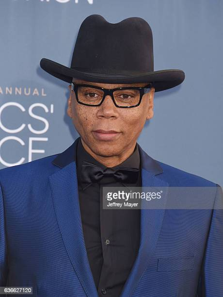 Actor RuPaul arrives at The 22nd Annual Critics' Choice Awards at Barker Hangar on December 11 2016 in Santa Monica California