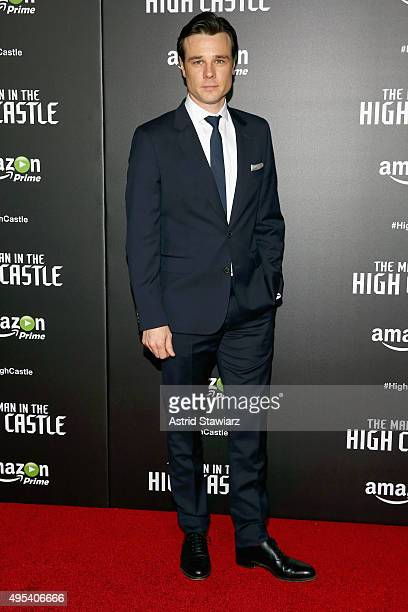 Actor Rupert Evans attends the episode screening and premiere for the Amazon Originals Series 'The Man In The High Castle' at Alice Tully Hall on...