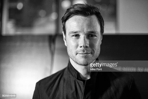 Actor Rupert Evans attends the New York premiere of 'The Boy' at AMC Empire on January 20 2016 in New York City