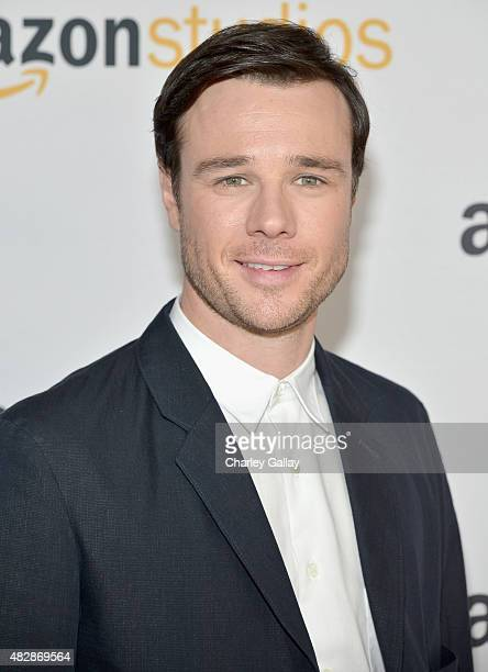 Actor Rupert Evans attends the 'The Man In The High Castle' panel discussion at the Amazon Studios portion of the 2015 Summer TCA Tour on August 3...