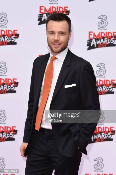 Actor Rupert Evans attends the THREE Empire awards at The Roundhouse on March 19 2017 in London England