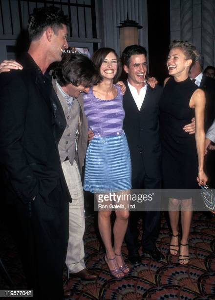 Actor Rupert Everett director PJ Hogan actress Julia Roberts actor Dermot Mulroney and actress Cameron Diaz attend the 'My Best Friend's Wedding' New...