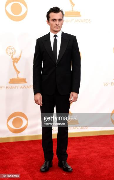 Actor Rupert Friend arrives at the 65th Annual Primetime Emmy Awards held at Nokia Theatre LA Live on September 22 2013 in Los Angeles California