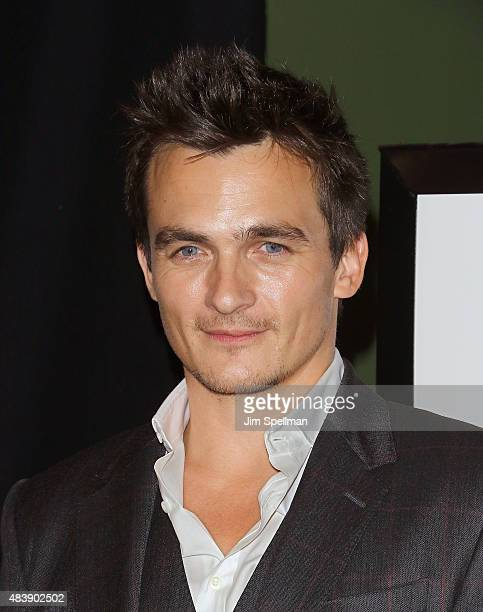 Actor Rupert Friend attends the 'Hitman Agent 47' New York premiere at AMC Empire 25 theater on August 13 2015 in New York City