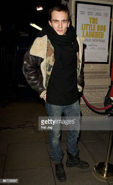 Actor Rupert Friend leaves the Garrick Theatre on February 15 2010 in London England