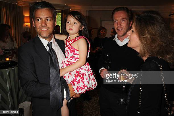 Actor Rupert Graves daughter Ella Graves and Damian Lewis attend the English National Ballet Cocktail Reception at The Dorchester on June 15 2010 in...