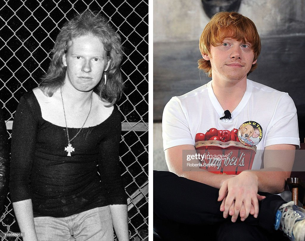 In this composite image a comparison has been made between musician Cheetah Chrome (L) and actor Rupert Grint. Rupert Grint will reportedly play musician Cheetah Chrome of the band 'The Dead Boys' in a film biopic entitled 'CBGB' directed by Randall Miller. ORLANDO, FL - JUNE 17: Actor Rupert Grint attends a press conference at the Grand Opening of The Wizarding World of Harry Potter at Universal Orlando on June 17, 2010 in Orlando, Florida.