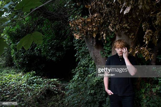 Actor Rupert Grint is photographed for the Sunday Times magazine on August 7 2013 in London England