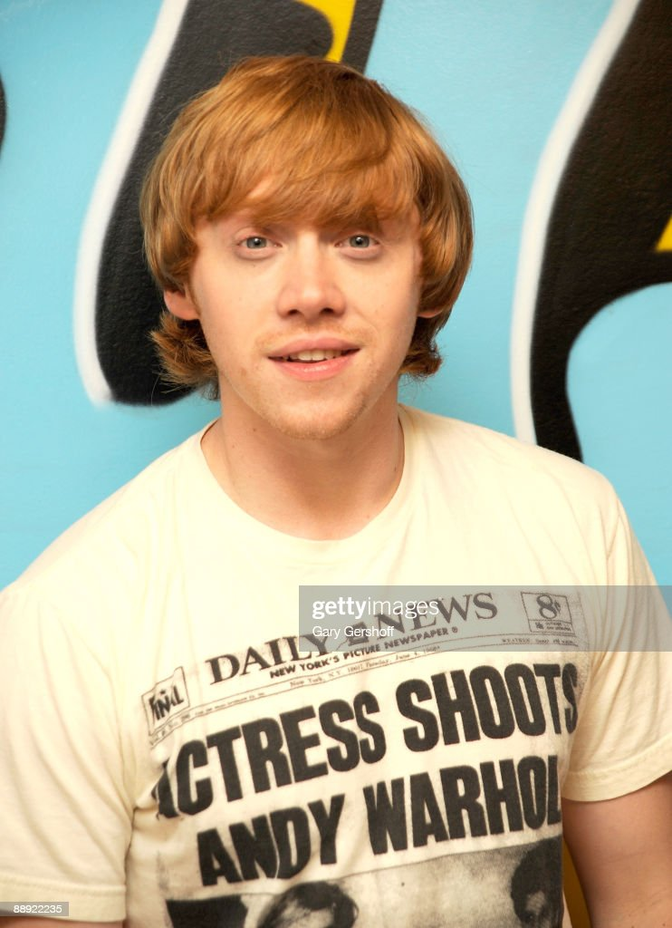 Actor Rupert Grint poses for pictures after visiting fuse's 'No. 1 Countdown' at fuse Studios on July 9, 2009 in New York City.