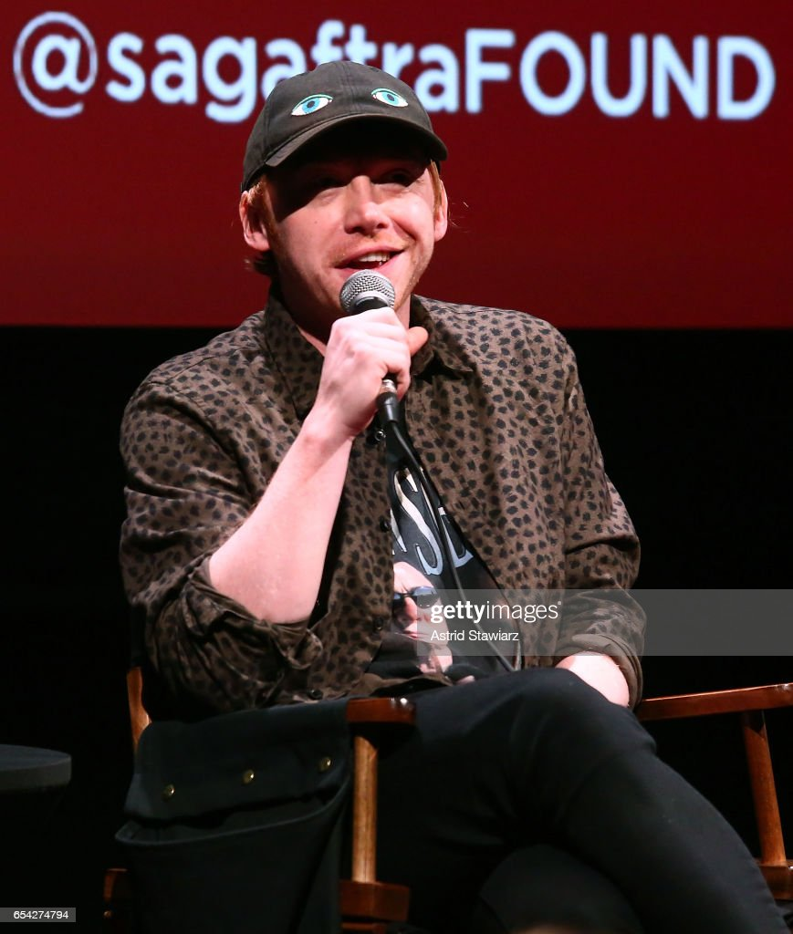 Actor Rupert Grint speaks during the SAG-AFTRA foundation conversation for 'Snatch' at the Robin Williams Center on March 16, 2017 in New York City.