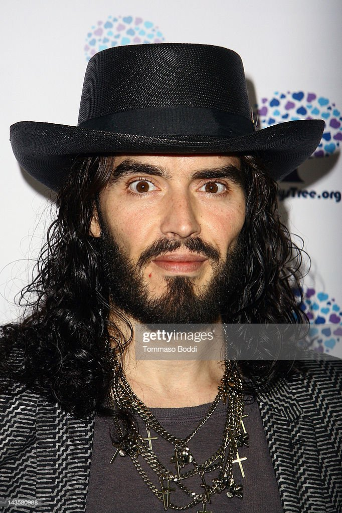 Actor <a gi-track='captionPersonalityLinkClicked' href=/galleries/search?phrase=Russell+Brand&family=editorial&specificpeople=536593 ng-click='$event.stopPropagation()'>Russell Brand</a> attends the Nancy's Garden Party Fundraiser held at te Miauhaus Studios on April 29, 2012 in Los Angeles, California.