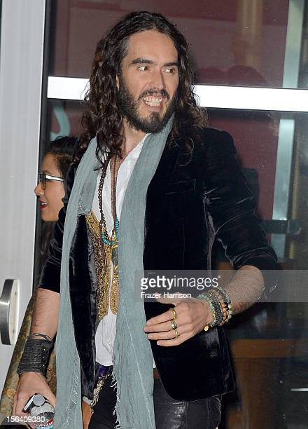 Actor Russell Brand attends the premiere of Focus Features' 'Anna Karenina' held at ArcLight Cinemas on November 14 2012 in Hollywood California