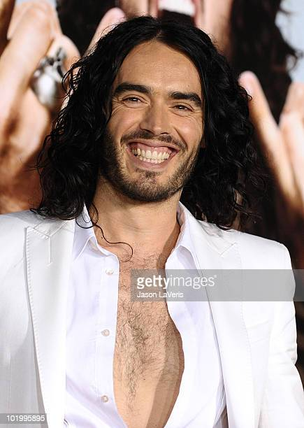 Actor Russell Brand attends the premiere of 'Get Him To The Greek' at The Greek Theatre on May 25 2010 in Los Angeles California