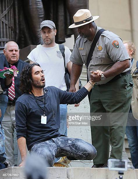 Actor Russell Brand is seen on October 14 2014 in New York City
