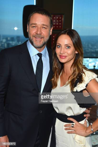 Actor Russell Crowe and singer/actress Natalie Imbruglia attend the Australian Academy Of Cinema And Television Arts' 2nd AACTA International Awards...