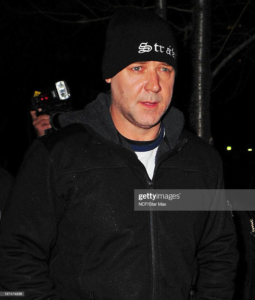 Actor Russell Crowe as seen on December 3, 2012 in New York City.