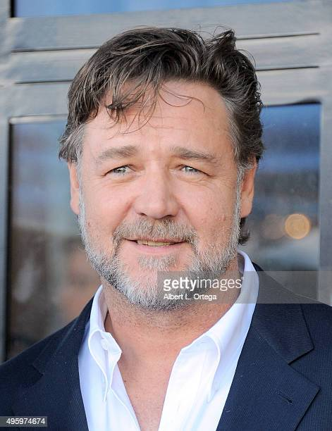 Actor Russell Crowe at the Ridley Scott Star Ceremony held on The Hollywood Walk of Fame on November 5 2015 in Hollywood California