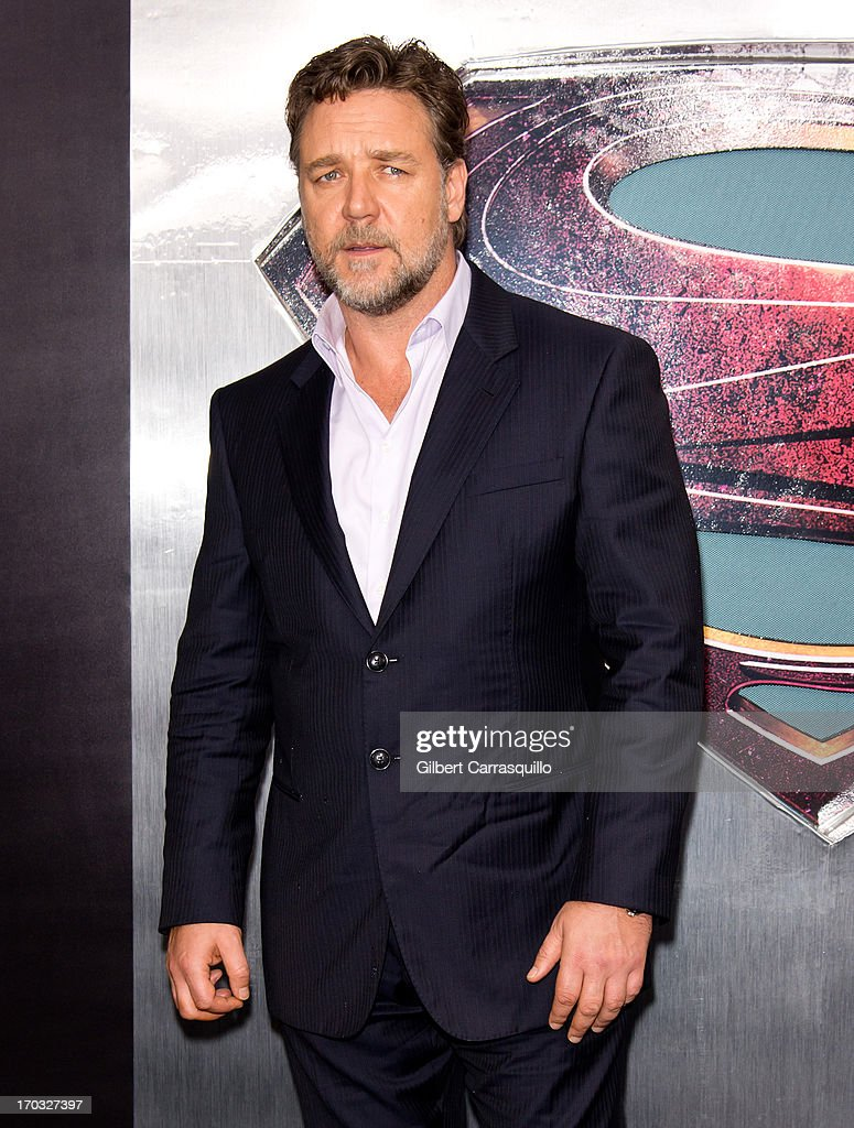 Actor Russell Crowe attends 'Man Of Steel' World Premiere at Alice Tully Hall at Lincoln Center on June 10, 2013 in New York City.