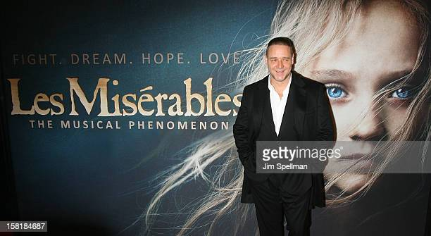 Actor Russell Crowe attends the 'Les Miserables' New York Premiere at Ziegfeld Theatre on December 10 2012 in New York City