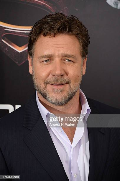 Actor Russell Crowe attends the 'Man Of Steel' world premiere at Alice Tully Hall at Lincoln Center on June 10 2013 in New York City
