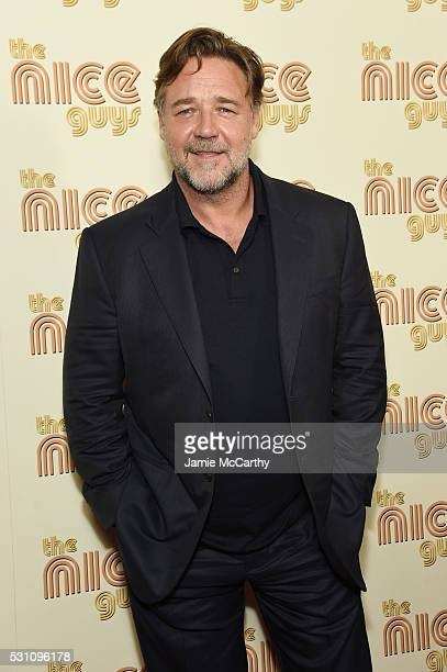 Actor Russell Crowe attends 'The Nice Guys' New York Screening at Metrograph on May 12 2016 in New York City