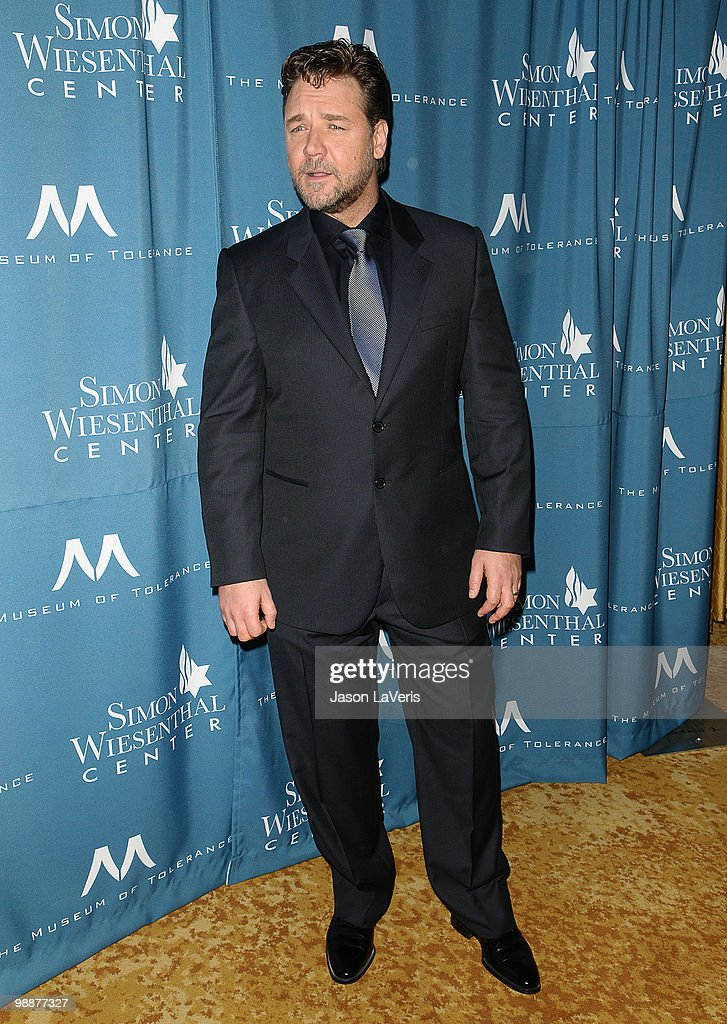 Actor <a gi-track='captionPersonalityLinkClicked' href=/galleries/search?phrase=Russell+Crowe&family=editorial&specificpeople=202609 ng-click='$event.stopPropagation()'>Russell Crowe</a> attends the Simon Wiesenthal Center's 2010 Humanitarian Award ceremony at the Beverly Wilshire hotel on May 5, 2010 in Beverly Hills, California.