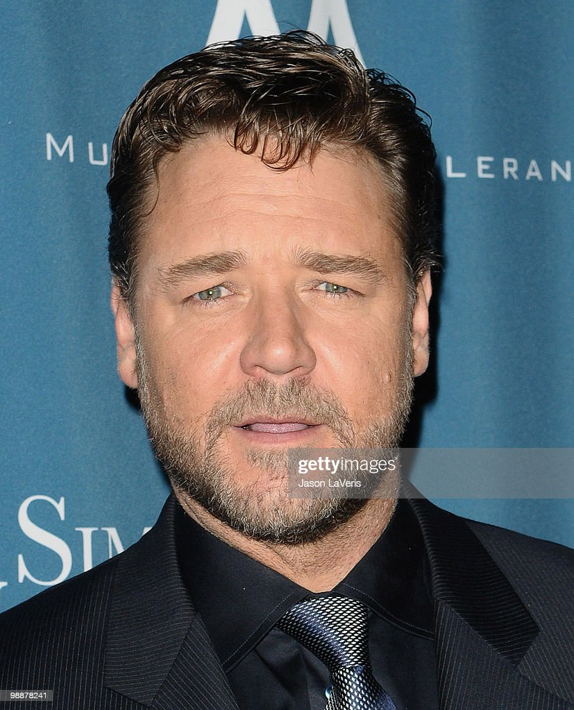 Actor Russell Crowe attends the Simon Wiesenthal Center's 2010 Humanitarian Award ceremony at the Beverly Wilshire hotel on May 5, 2010 in Beverly Hills, California.