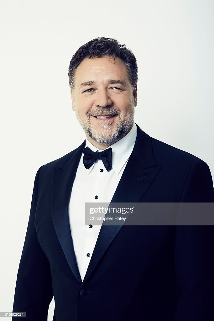 Actor Russell Crowe poses for a portrait at the 2016 American Cinematheque Awards on October 14, 2016 in Beverly Hills, California.