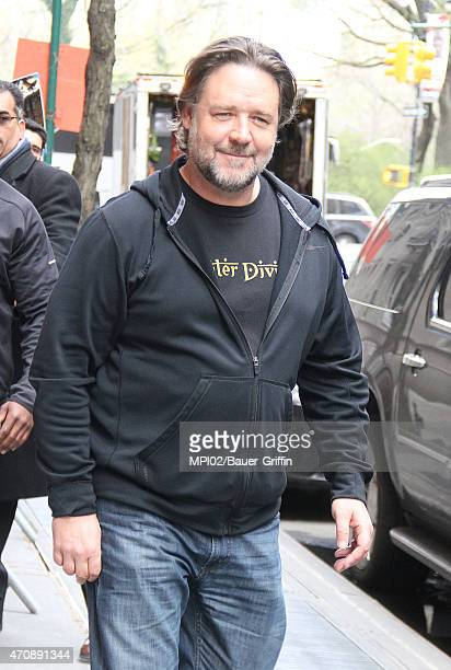 Actor Russell Crowe seen at ABC studios for an appearance on 'The View' on April 23 2015 in New York City