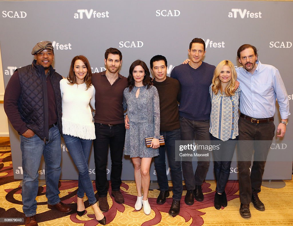 Actor <a gi-track='captionPersonalityLinkClicked' href=/galleries/search?phrase=Russell+Hornsby&family=editorial&specificpeople=546635 ng-click='$event.stopPropagation()'>Russell Hornsby</a>, Actress <a gi-track='captionPersonalityLinkClicked' href=/galleries/search?phrase=Bree+Turner&family=editorial&specificpeople=233811 ng-click='$event.stopPropagation()'>Bree Turner</a>, Actor <a gi-track='captionPersonalityLinkClicked' href=/galleries/search?phrase=David+Giuntoli&family=editorial&specificpeople=8011911 ng-click='$event.stopPropagation()'>David Giuntoli</a>, Actress <a gi-track='captionPersonalityLinkClicked' href=/galleries/search?phrase=Bitsie+Tulloch&family=editorial&specificpeople=4616199 ng-click='$event.stopPropagation()'>Bitsie Tulloch</a>, Actor Reggie Lee, Actor <a gi-track='captionPersonalityLinkClicked' href=/galleries/search?phrase=Sasha+Roiz&family=editorial&specificpeople=6685510 ng-click='$event.stopPropagation()'>Sasha Roiz</a>, Actress <a gi-track='captionPersonalityLinkClicked' href=/galleries/search?phrase=Claire+Coffee&family=editorial&specificpeople=5407090 ng-click='$event.stopPropagation()'>Claire Coffee</a>, and Actor <a gi-track='captionPersonalityLinkClicked' href=/galleries/search?phrase=Silas+Weir+Mitchell&family=editorial&specificpeople=4195871 ng-click='$event.stopPropagation()'>Silas Weir Mitchell</a> attends the 'Grimm' event during aTVfest 2016 presented by SCAD on February 7, 2016 in Atlanta, Georgia.