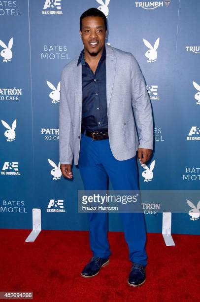 Actor Russell Hornsby attends Playboy and AE 'Bates Motel' Event during ComicCon International 2014 on July 25 2014 in San Diego California