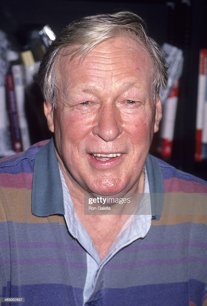 Actor Russell Johnson attends Dawn Wells autographs copies of her new book 'Mary Ann's Gilligan's Island Cookbook' on December 4, 1993 at Book Soup, 8818 Sunset Blvd. in West Hollywood, California.
