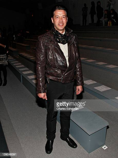 Actor Russell Wong attends the Vivienne Tam Fall 2012 fashion show during MercedesBenz Fashion Week at the The Stage at Lincoln Center on February 15...