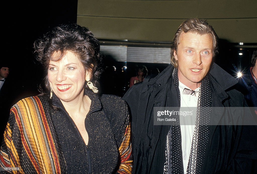 Actor Rutger Hauer and wife Ineke ten Kate attend the Second Annual American Cinematheque Award Salute to Bette Midler on February 21, 1987 at the Hollywood Palladium in Hollywood, California.