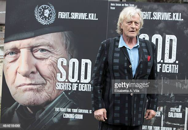Actor Rutger Hauer attends 'Sights Of Death' photocall al Villa Borghese on January 23 2014 in Rome Italy