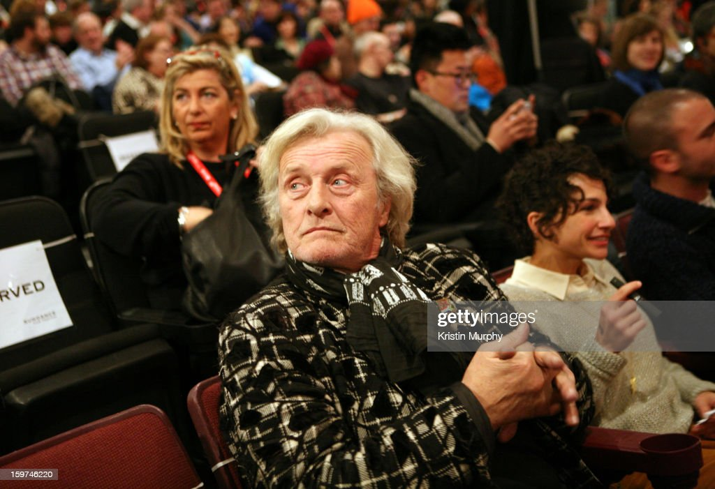 Actor <a gi-track='captionPersonalityLinkClicked' href=/galleries/search?phrase=Rutger+Hauer&family=editorial&specificpeople=228478 ng-click='$event.stopPropagation()'>Rutger Hauer</a> attends 'The Future' premiere at Prospector Square during the 2013 Sundance Film Festival on January 19, 2013 in Park City, Utah.