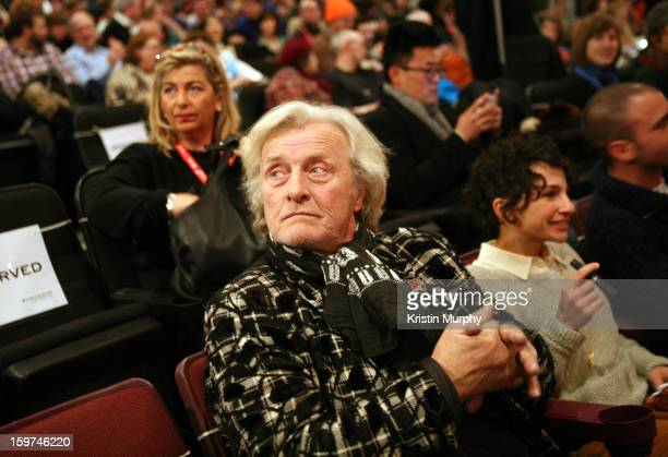Actor Rutger Hauer attends 'The Future' premiere at Prospector Square during the 2013 Sundance Film Festival on January 19 2013 in Park City Utah