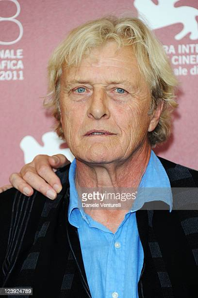 Actor Rutger Hauer attends the 'Il Villaggio di Cartone' Photocall during the 68th Venice International Film Festival at Palazzo del Casino on...