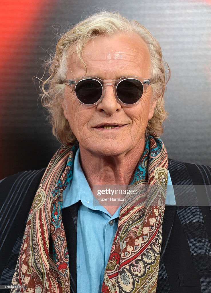 Actor Rutger Hauer attends the premiere of HBO's 'True Blood' Season 6 at ArcLight Cinemas Cinerama Dome on June 11, 2013 in Hollywood, California.