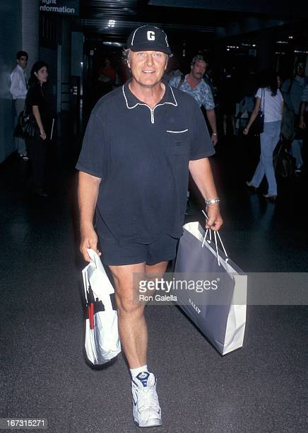 Actor Rutger Hauer departs for New York City on July 24 1997 from the Los Angeles International Airport in Los Angeles California