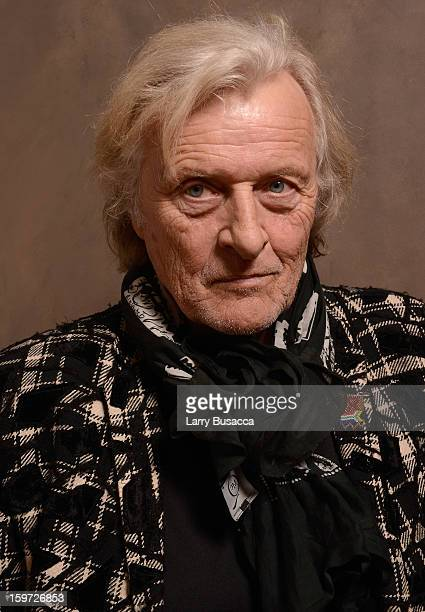 Actor Rutger Hauer poses for a portrait during the 2013 Sundance Film Festival at the Getty Images Portrait Studio at Village at the Lift on January...