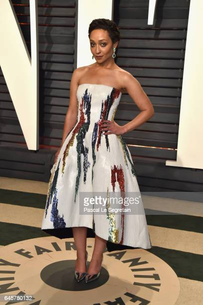 Actor Ruth Negga attends the 2017 Vanity Fair Oscar Party hosted by Graydon Carter at Wallis Annenberg Center for the Performing Arts on February 26...