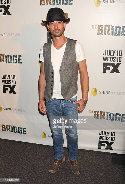 Actor Ryan Bingham arrives at the Series Premiere Of FX's 'The Bridge' at DGA Theater on July 8 2013 in Los Angeles California
