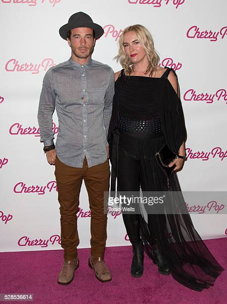 Actor Ryan Carnes and Rochelle Vincente Von K attend the screening of 'Cherry Pop' at The Attic on May 5 2016 in Hollywood California