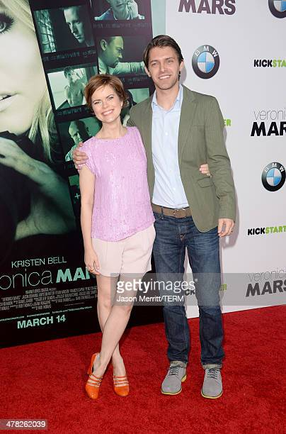 Actor Ryan Devlin and guest arrive at the Los Angeles premiere of 'Veronica Mars' at TCL Chinese Theatre on March 12 2014 in Hollywood California