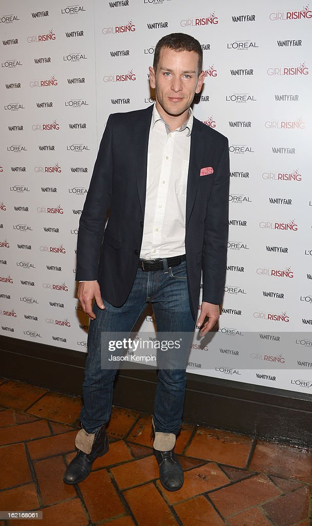 Actor Ryan Dillon attends Vanity Fair and L'Oréal Paris-hosted D.J. Night with Freida Pinto in support of 10 x 10 and 'Girl Rising' at Teddy's at The Hollywood Roosevelt Hotel on February 19, 2013 in Los Angeles, California.
