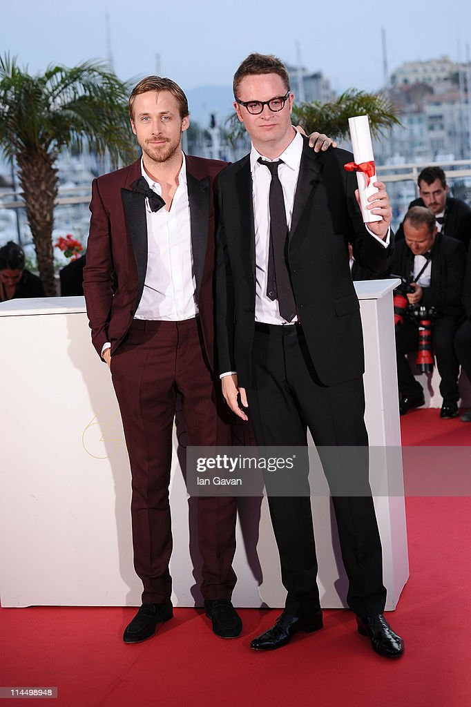 Actor Ryan Gosling and 2011 Best Director Nicolas Winding Refn of the film 'Drive' pose at the Palme d'Or Winners Photocall at the Palais des...